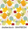 seamless autumn leafs - stock vector