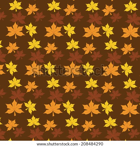 seamless autumn rustic repeat vector pattern