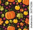 Seamless autumnal background 2 - stock