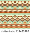 Seamless aztec style pattern - stock vector
