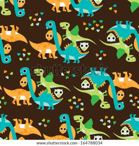 Stock images similar to id 160578005 dinosaur pattern for Baby dinosaur fabric