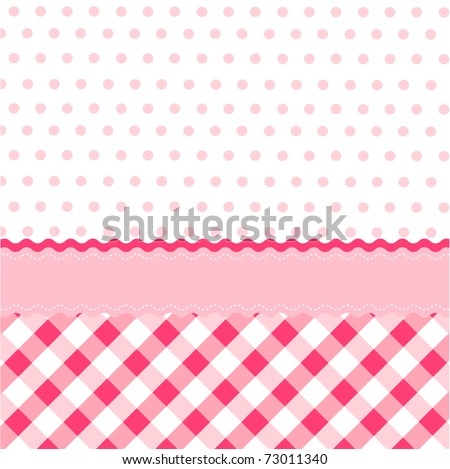 Seamless Baby Girl Pattern Wallpaper
