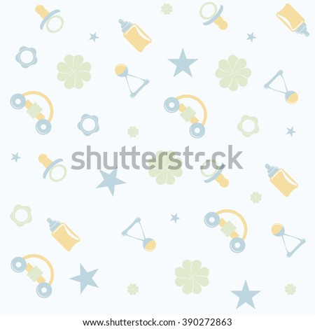 seamless baby pattern. vector illustration