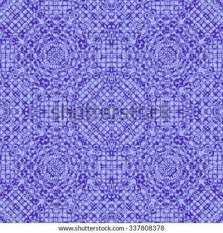 Seamless Background, Abstract Blue and Violet Pattern. Vector - stock vector