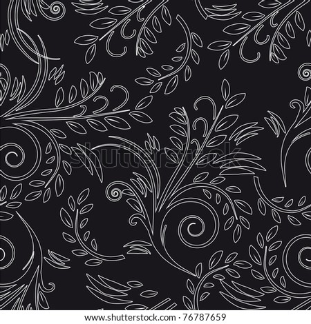 Seamless background black and white. Vector illustration - stock vector
