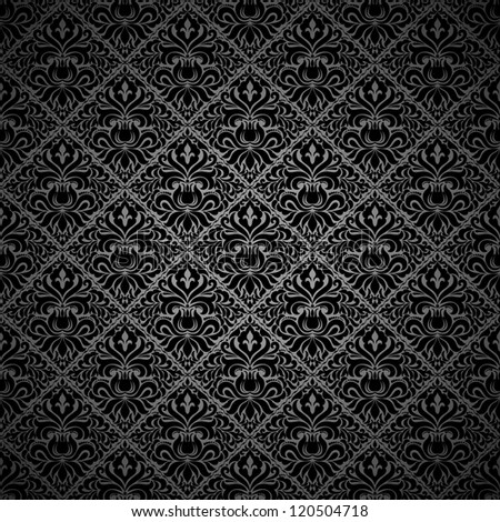 Seamless background black color - stock vector