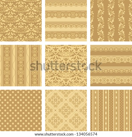 Seamless background Collection, vector Illustration