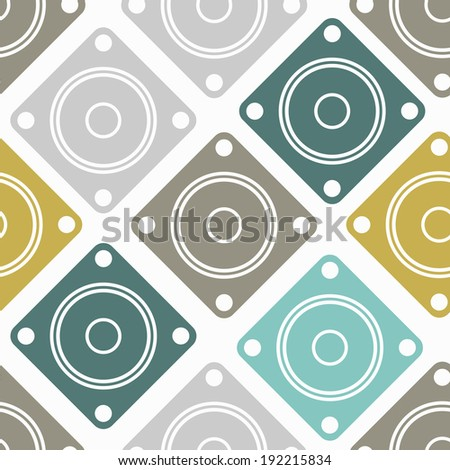 seamless background: dynamic, sound - stock vector