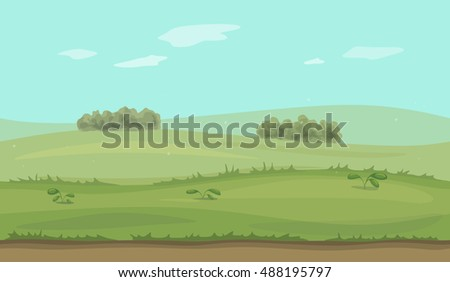 Seamless background field with trees