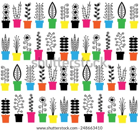 seamless background flowers - stock vector