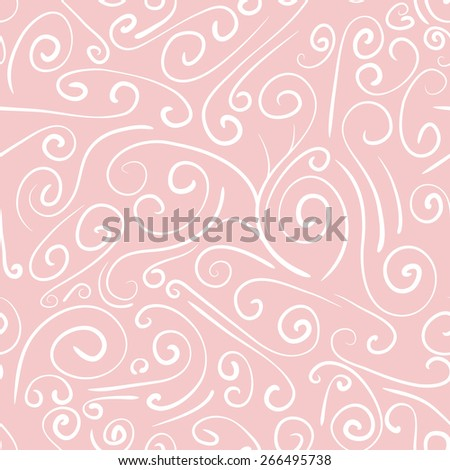 Seamless background from a floral ornament, Fashionable modern wallpaper or textile, curled calligraphic design elements.