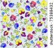 Seamless background from a flowers ornament, fashionable modern wallpaper or textile. - stock vector