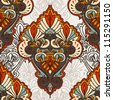 Seamless background from a orient/victorian ornament - stock photo