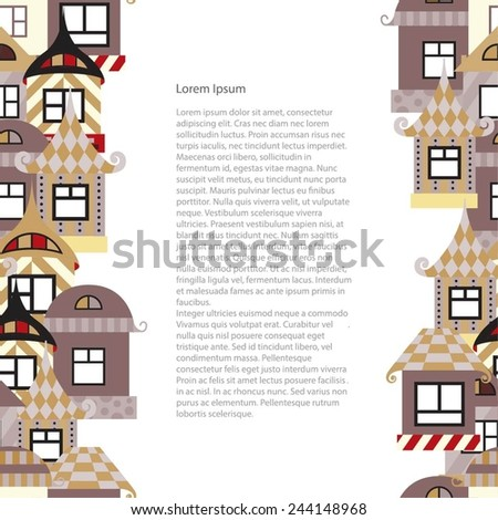 Seamless background from abstract houses. The background for the design of the pages, catalogs or brochures. - stock vector
