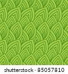 seamless background from simple green leaves - stock vector