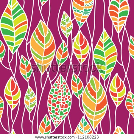 Seamless background from the leaves. Can be used for wallpaper, pattern fills, web page background, surface textures, textile.