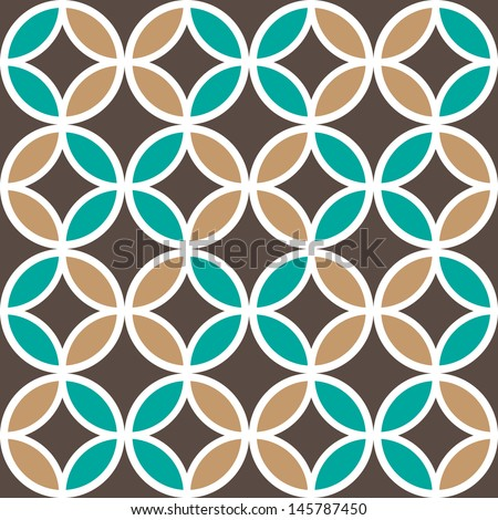 Seamless background.Geometric pattern. - stock vector