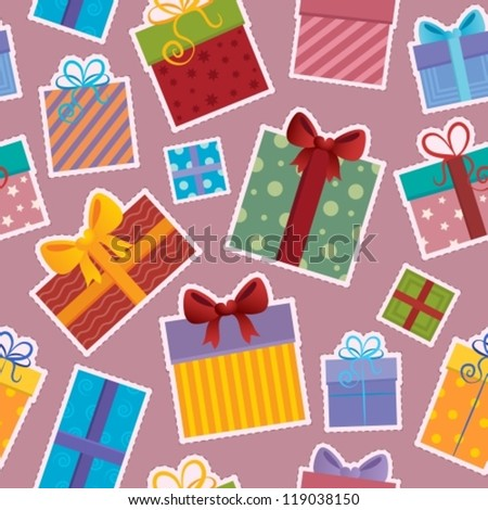 Seamless background gift theme 4 - vector illustration.