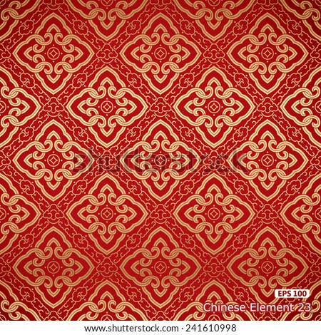 Seamless background in Chinese traditional design - stock vector