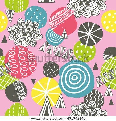Seamless background in pink colors. Vector pattern.