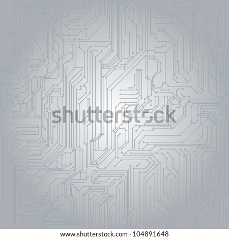 Seamless background in the form of printed circuit board - stock vector