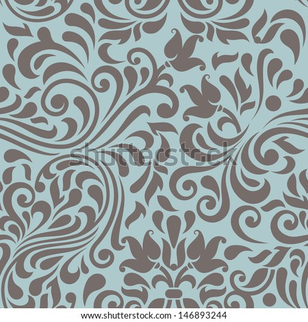 Seamless background in the style of Damascus  - stock vector