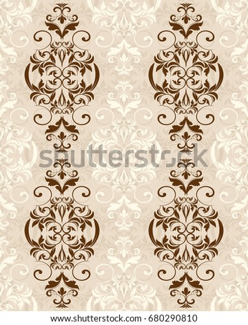Seamless background in the style of Damascus. Vintage ornament. Use for wallpaper, printing on the packaging paper, textiles, tile.