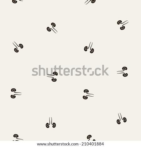 seamless background: kidneys - stock vector
