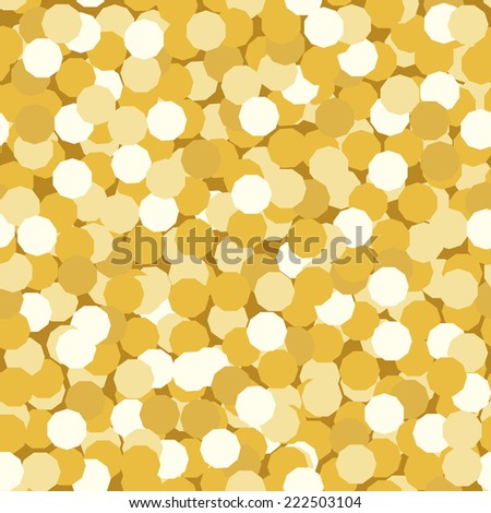 seamless background made of golden confetti or sparkles - stock vector