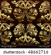 Seamless background Medieval Ornament gold. Vector illustration - stock vector