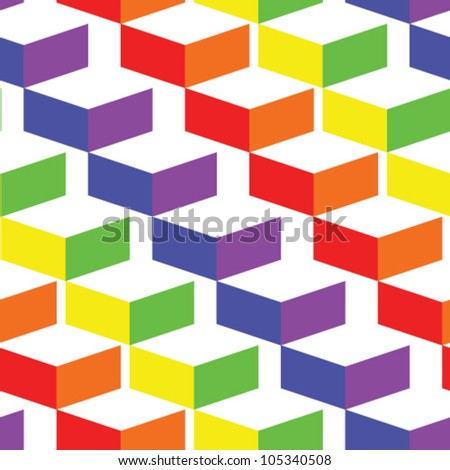 seamless background of 3d staircase - stock vector