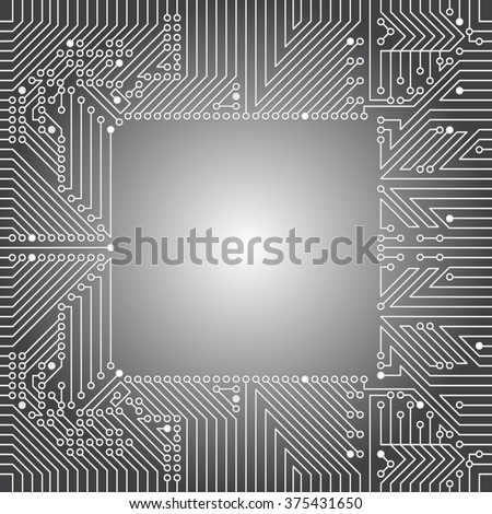 Seamless background of electrical circuit of computer board device (motherboards). Gray Light Abstract Technology background for computer graphic website internet business. Electrical circuit.  - stock vector