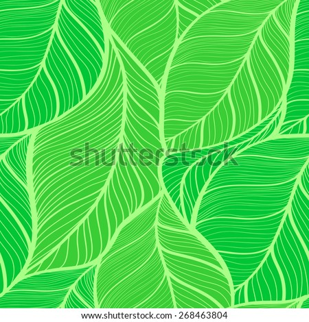 seamless background of green leaves vector illustration