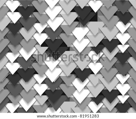 Seamless background of grey abstract triangle waves - stock vector