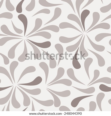 Seamless background of textile with colorful leaves. EPS Vector illustration