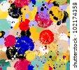 seamless background paint splashes - stock vector