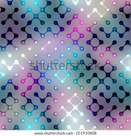 Seamless background pattern. Abstract diagonal geometric pattern with droplet elements on blurred background. - stock vector