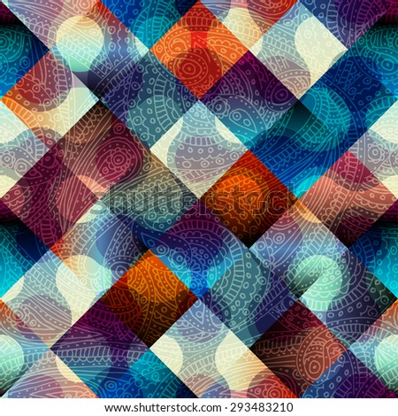 Seamless background pattern. Abstract geometric pattern with diagonal strikes. - stock vector