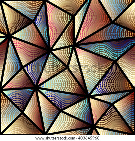 Seamless background pattern. Abstract triangles geometric pattern. - stock vector