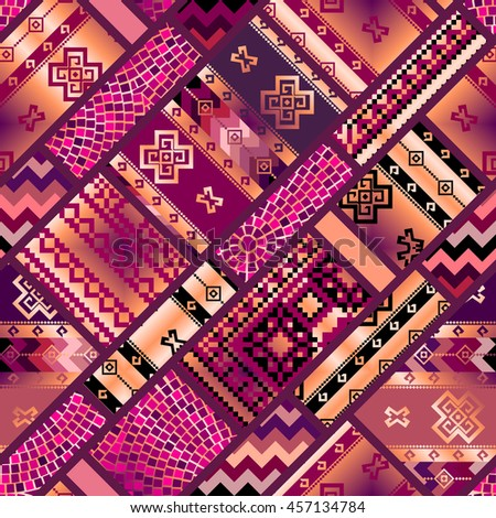 Seamless background pattern. Diagonal geometric ornamental pattern.