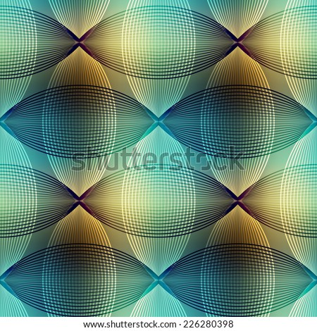 Seamless background pattern. Geometric pattern on blur sea-green background. - stock vector