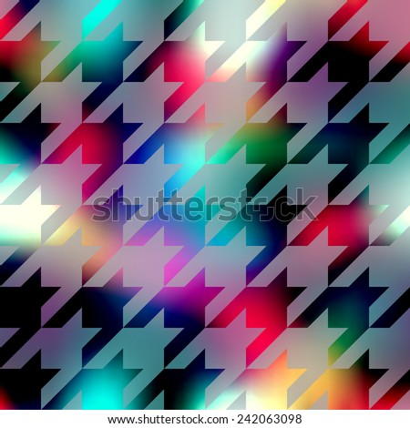 Seamless background pattern. Hounds-tooth pattern on abstract blur background. - stock vector