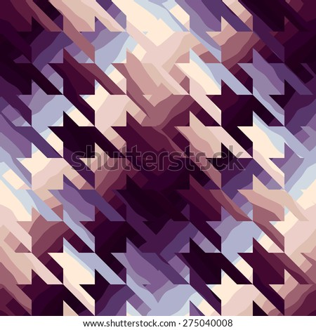 Seamless background pattern. Houndstooth in purple color. - stock vector