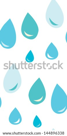 Seamless background pattern of water droplets - stock vector