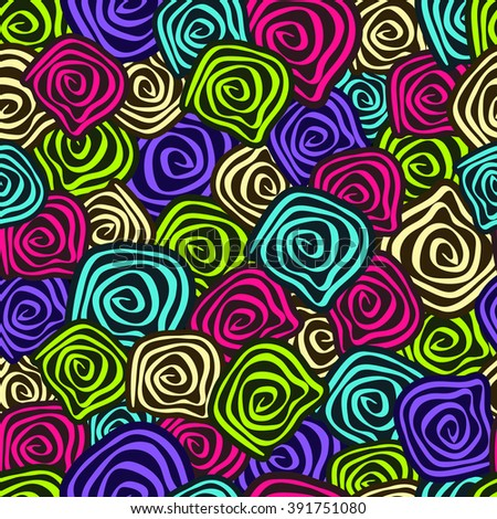 Seamless Background Spiral Pattern. Vector Illustration