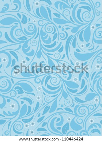 Seamless background spring blue - stock vector