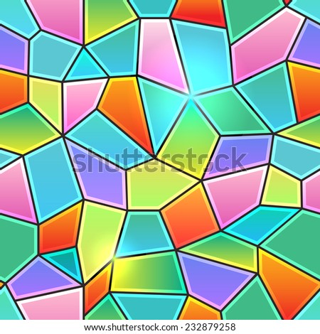 Seamless background texture in the form of kaleidoscope stained glass colorful - stock vector