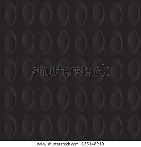 Seamless background tile with a pattern of dark inset ovals. - stock vector