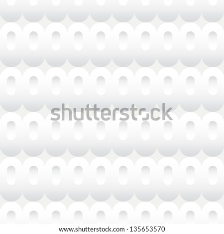 Seamless background tile with a pattern of white inset ovals. - stock vector