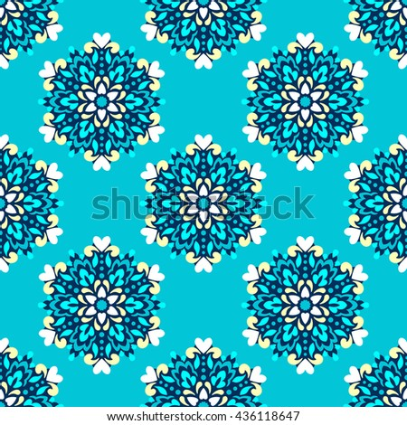 Seamless background with abstract ethnic pattern. Vector illustration.